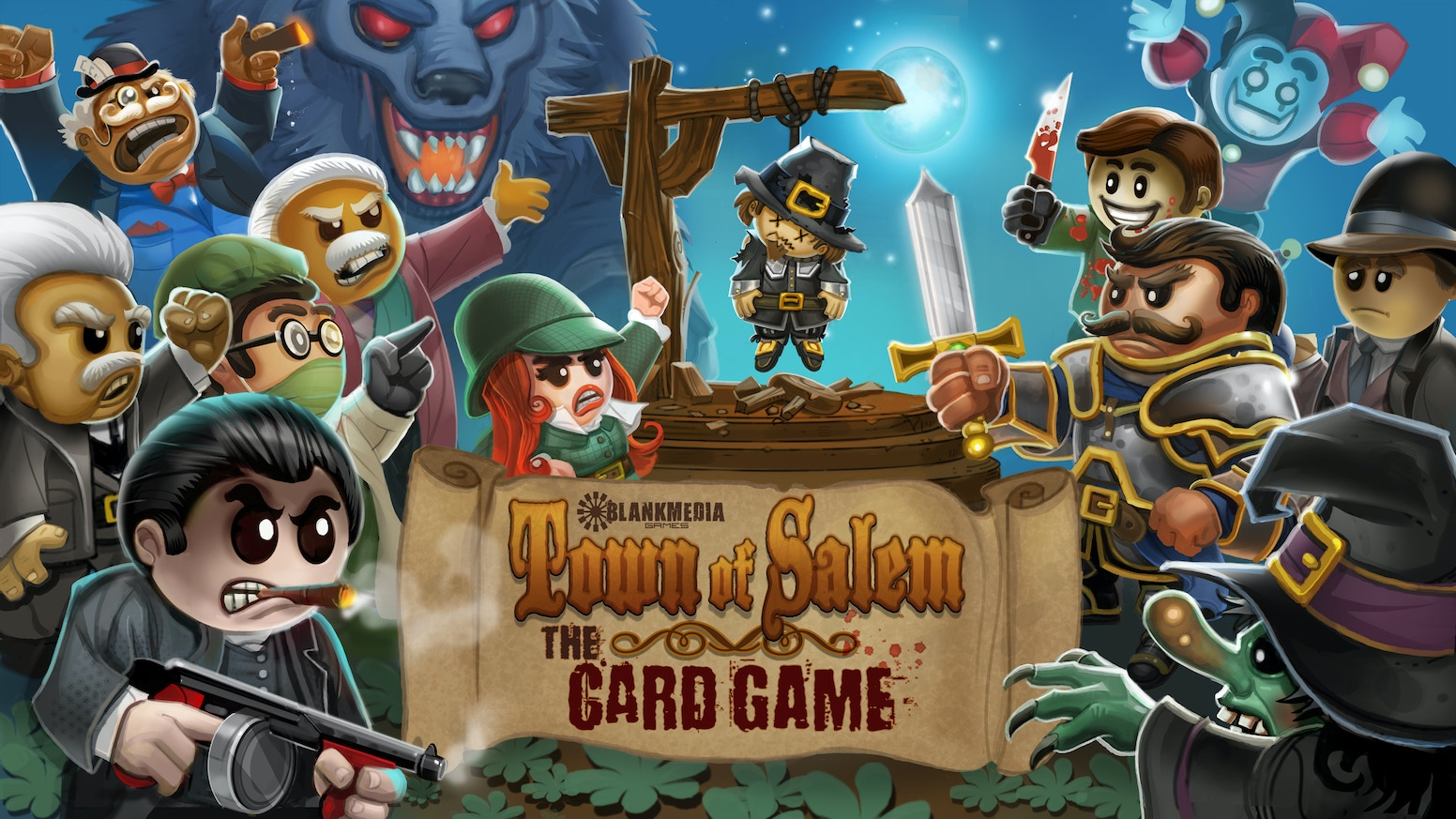 This brand new card game is for people who like hanging their friends, werewolves, pilgrims and fancy witch hats.