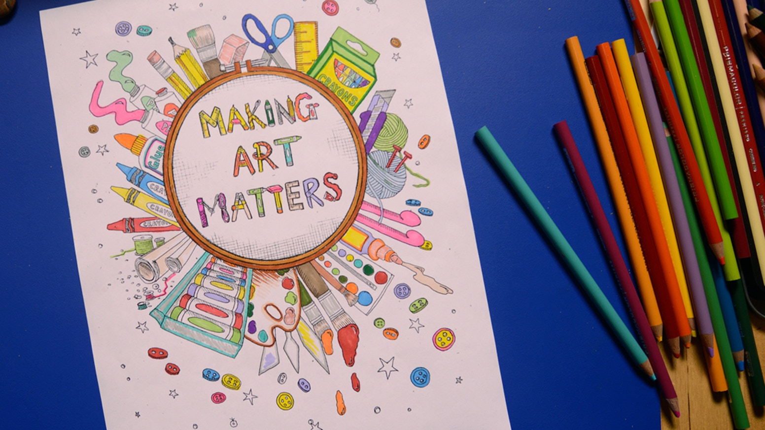 Help Our Community Make An All Ages Colouring Book That Everyone Can Enjoy Because Is Artist And Making Art Matters Created By The LivingRoom