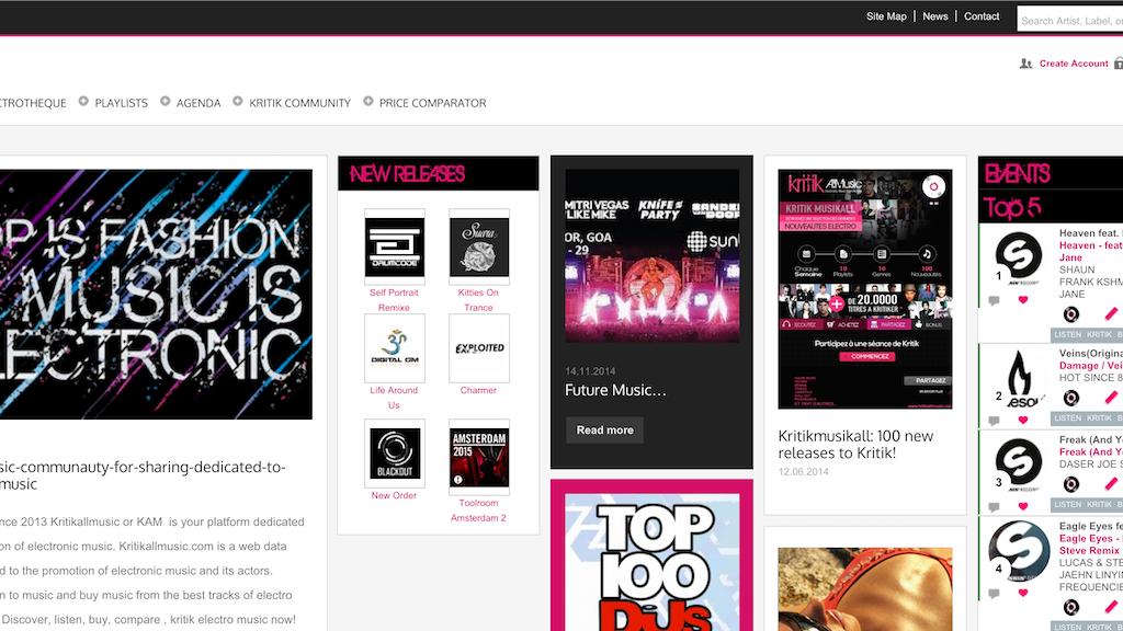 Project image for KAM Communauté de partage de musique électronique