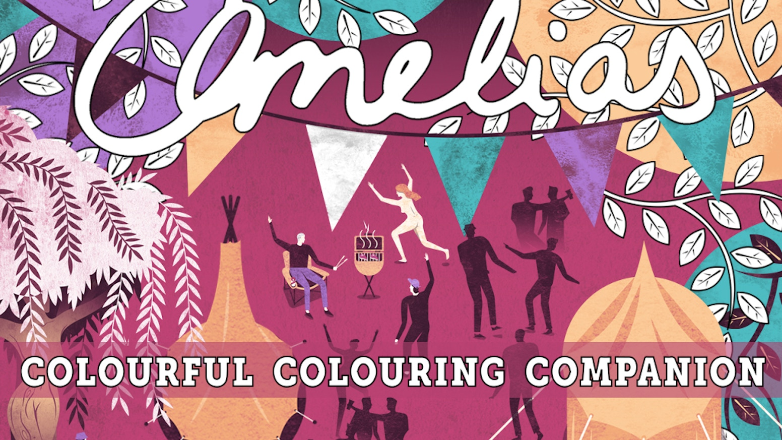 Amelia's Colourful Colouring Companion: a unique collaborative colouring book for adults featuring 40 artists. A perfect Christmas gift