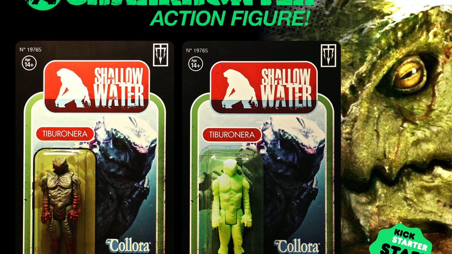 """A retro 3 3/4"""", Kenner style action figure designed and sculpted by Hollywood creature creator and filmmaker, Sandy Collora."""