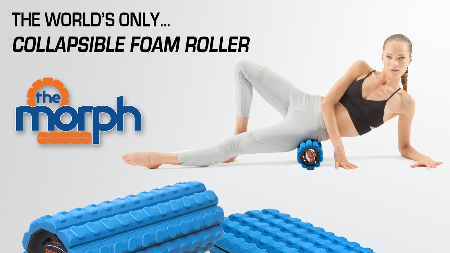 THE WORLD'S FIRST go anywhere, do anything, easy-to-pack, mobility-enhancing, shape-shifting, butt-kicking COLLAPSIBLE FOAM ROLLER!