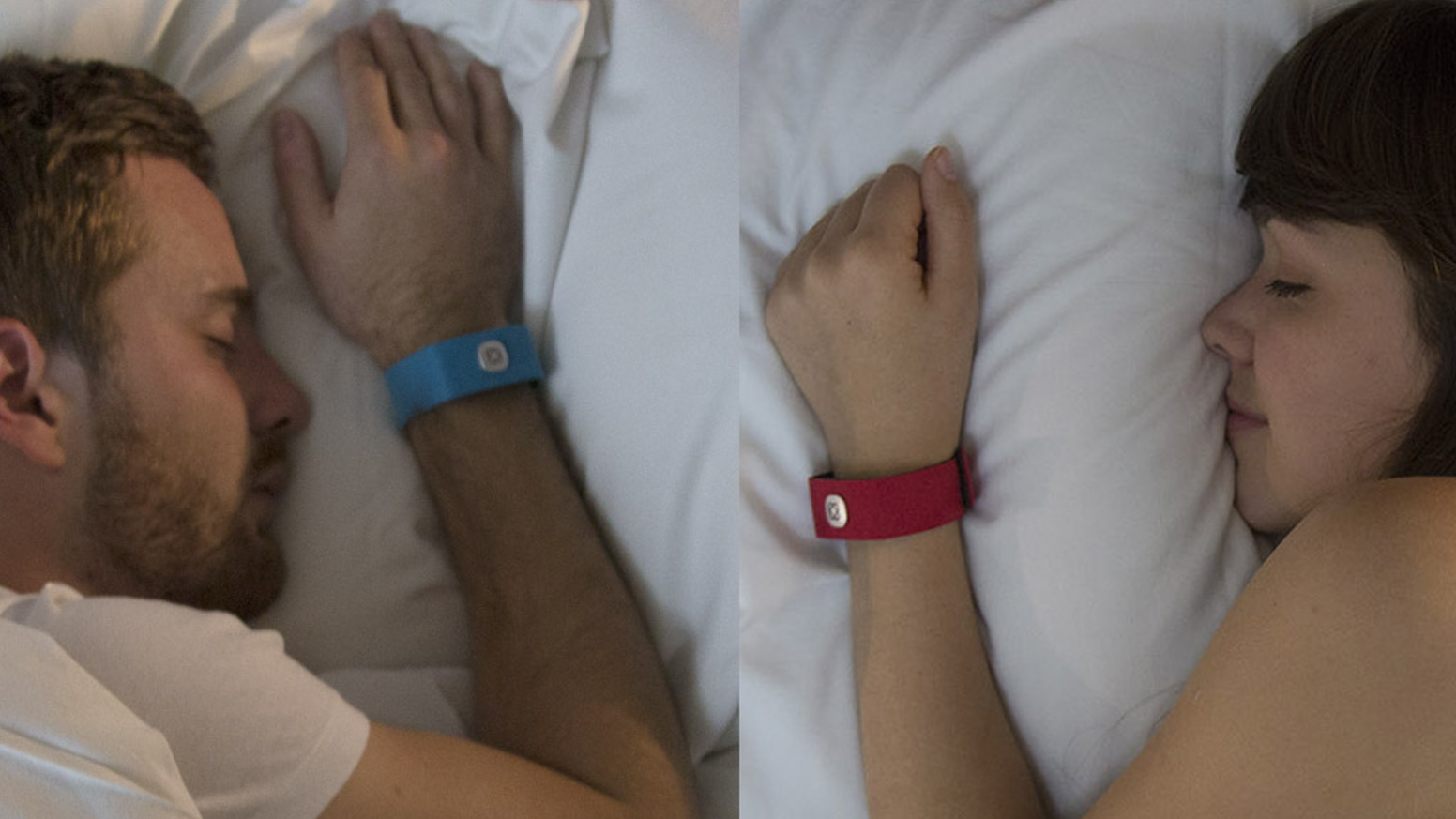 Pillow Talk is a wristband that picks up and sends your heartbeat, in real time, to your loved one, wherever in the world they may be.