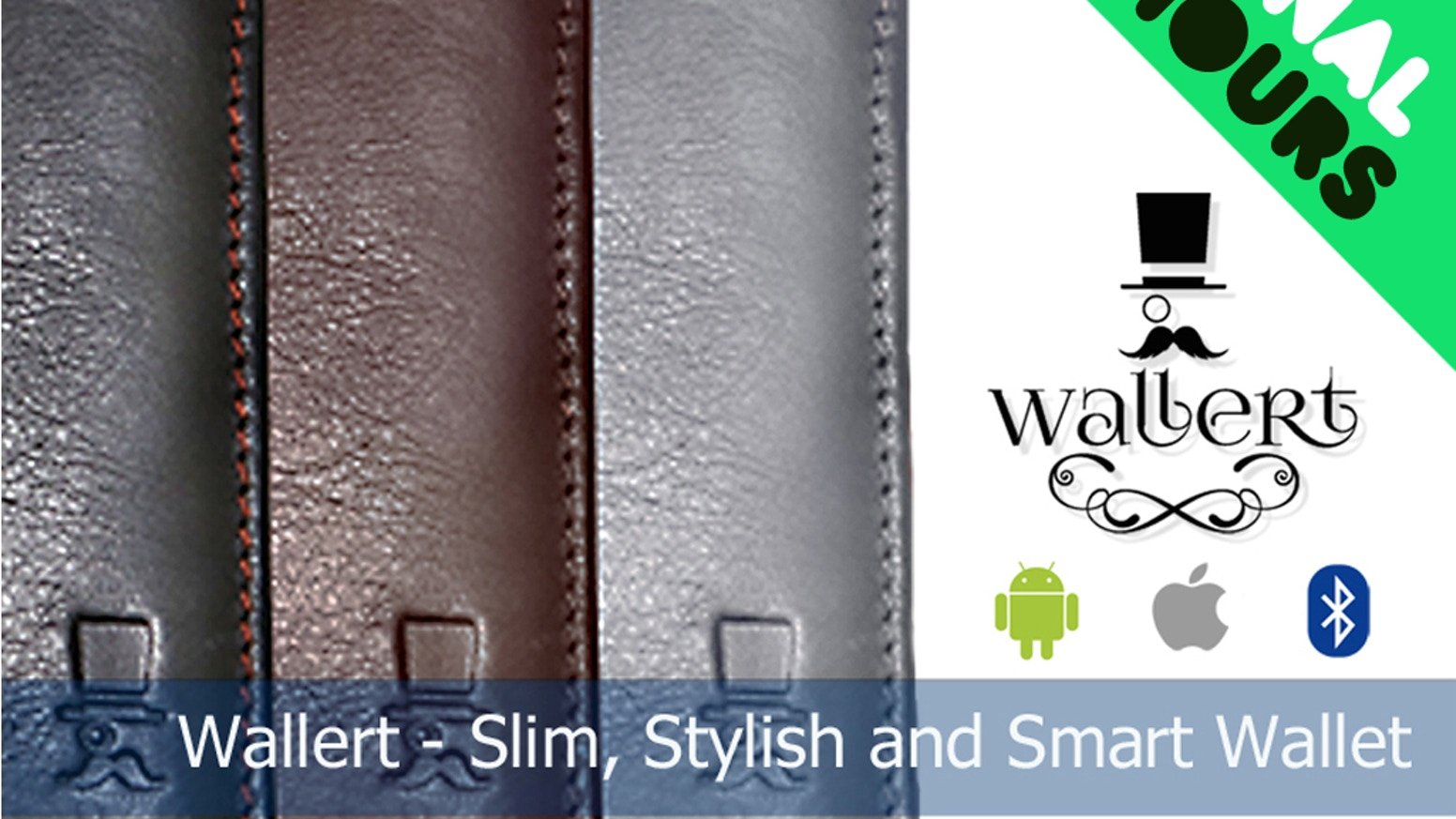 Wallert: slim your wallet and keep it Smart - with built-in bluetooth locator, latest slim design and RFID blocking technology