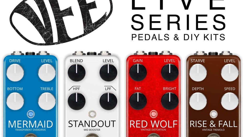 VFE Pedals Live Series - guitar pedals and DIY kits project video thumbnail