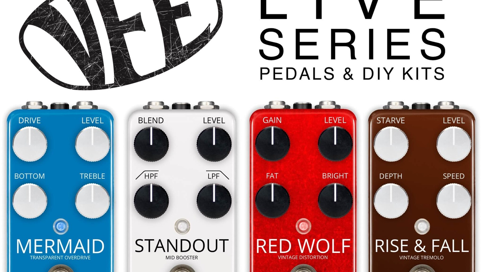 VFE Pedals Live Series - guitar pedals and DIY kits by Peter Rutter