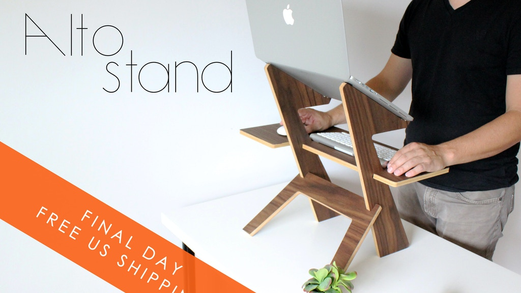 Alto Stand, The modern minimal standing desk project video thumbnail