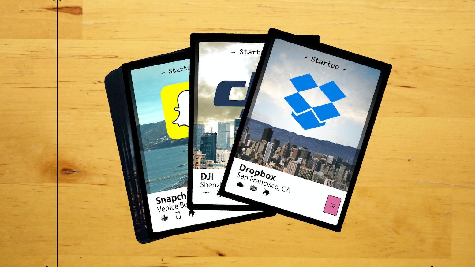 startup trading cards by unicorn garden kickstarter. Black Bedroom Furniture Sets. Home Design Ideas