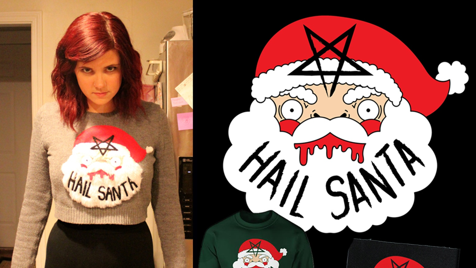 Show your true faith and make all your friends at your next ugly Christmas sweater party jealous.