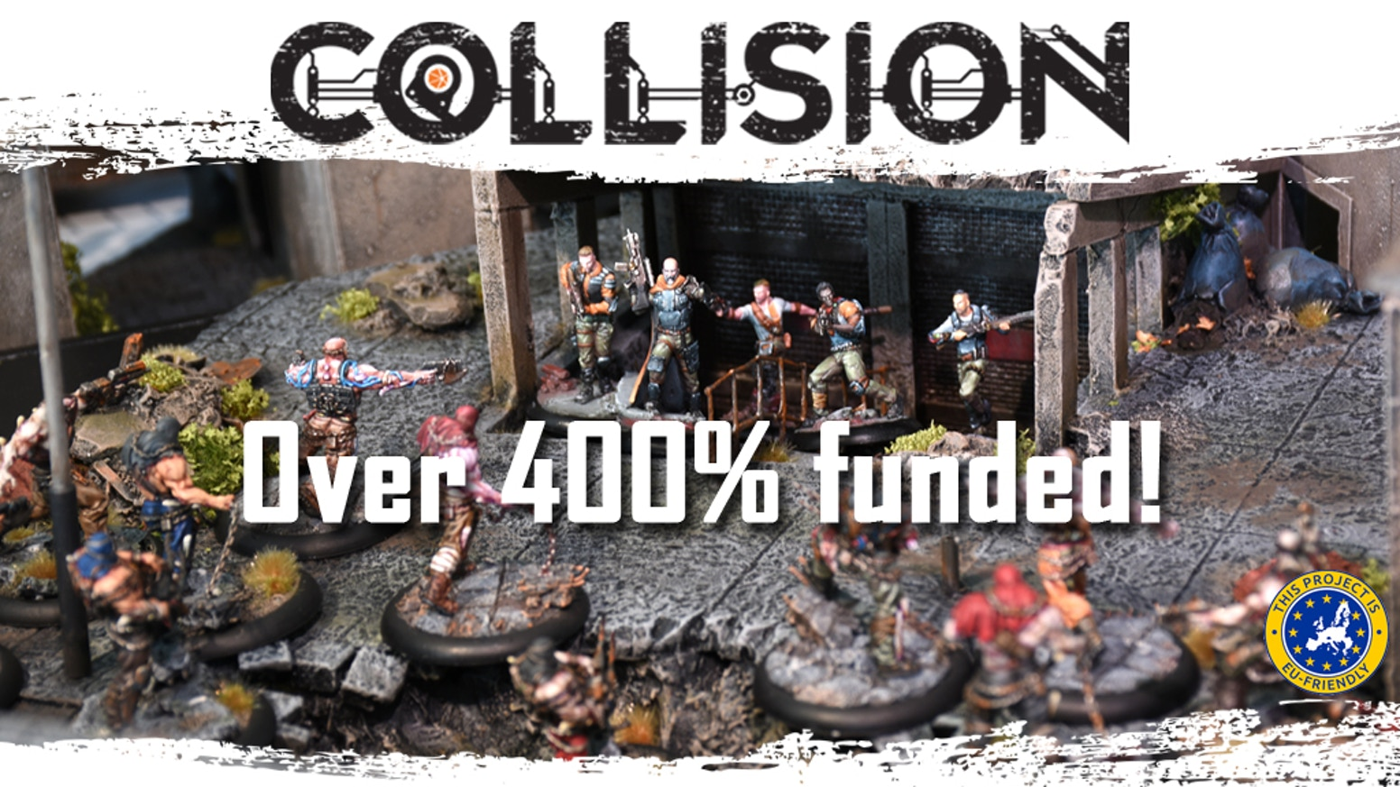 Collision is a post-apocalyptic miniature game played with cards. It is fast paced and involves engaging player interaction.