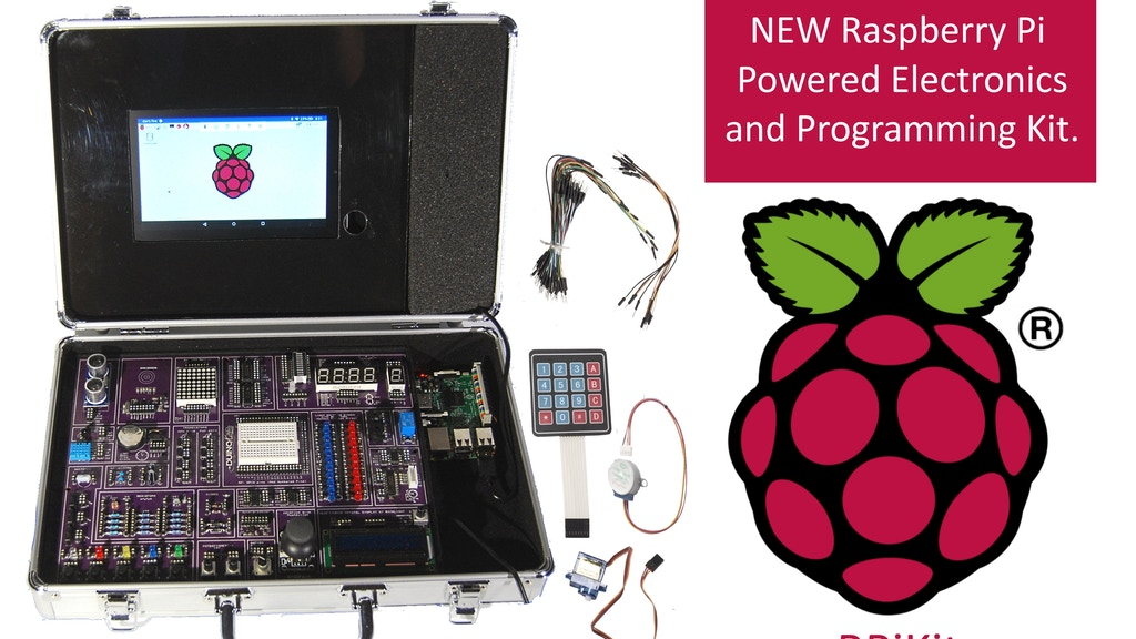 Learn how to wire and program the Raspberry Pi. project video thumbnail