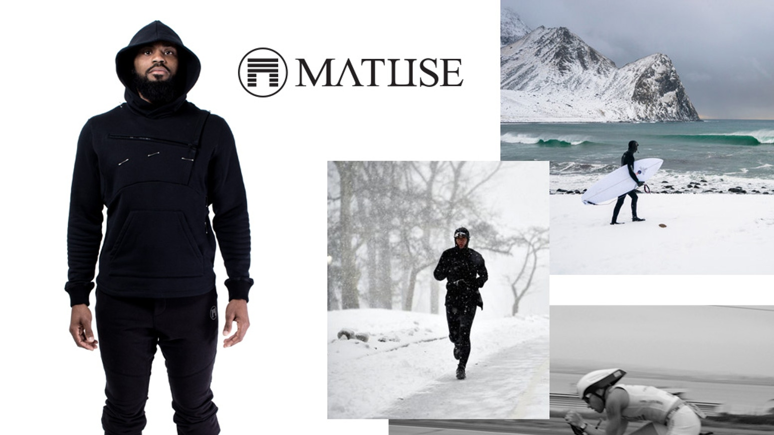 Surf and Sport Tactical Active wear; perfectly suited for running through a New England blizzard or wearing post winter surf sessions.