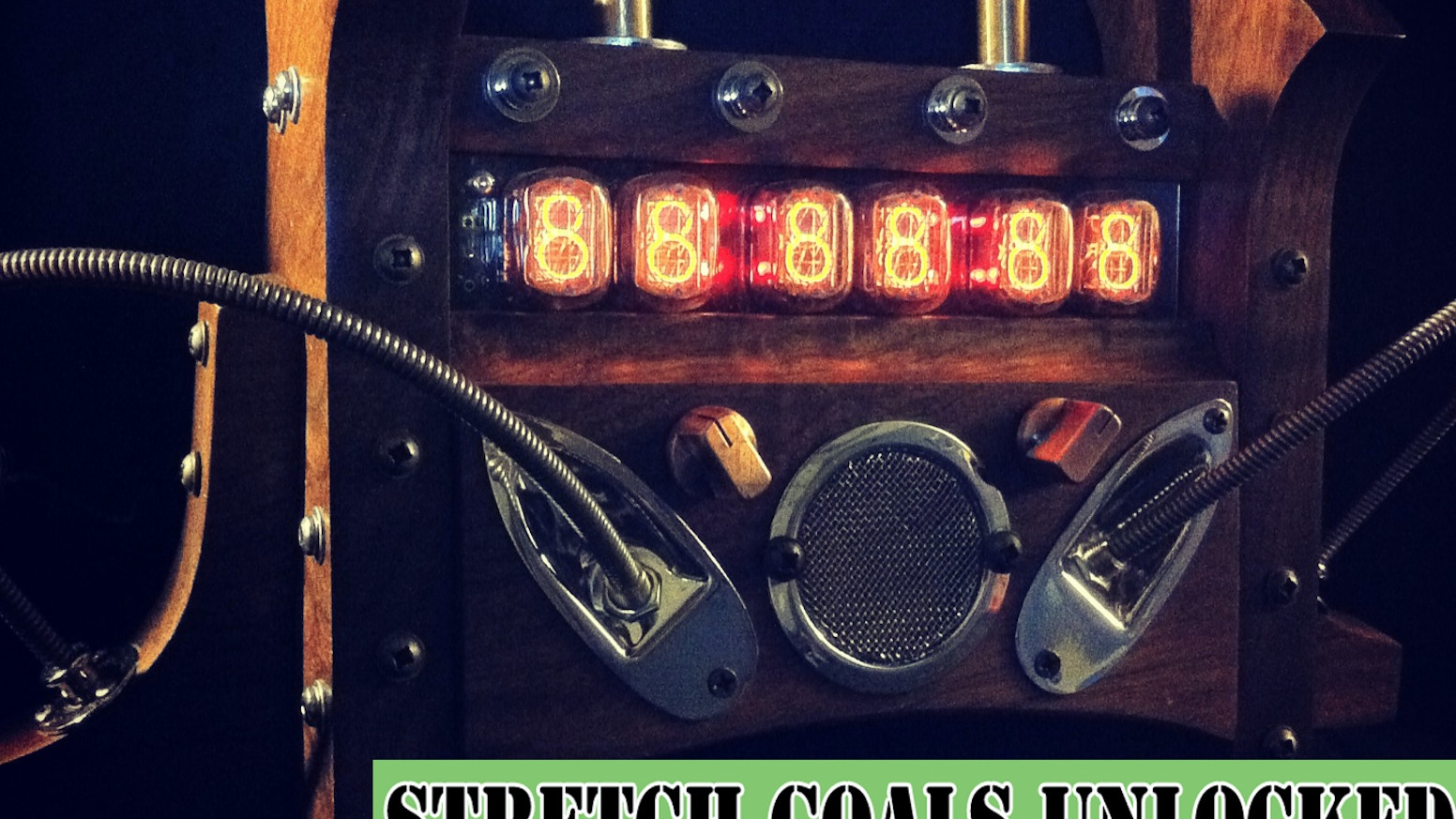 Handmade Steampunk Nixie Clocks In Exotic Hardwoods Walnut Brass Bloodwood Steel