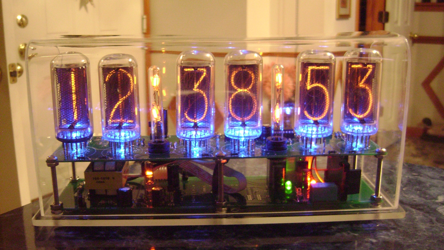 The Nixie Clock III using IN-18 nixie tubes by Howard