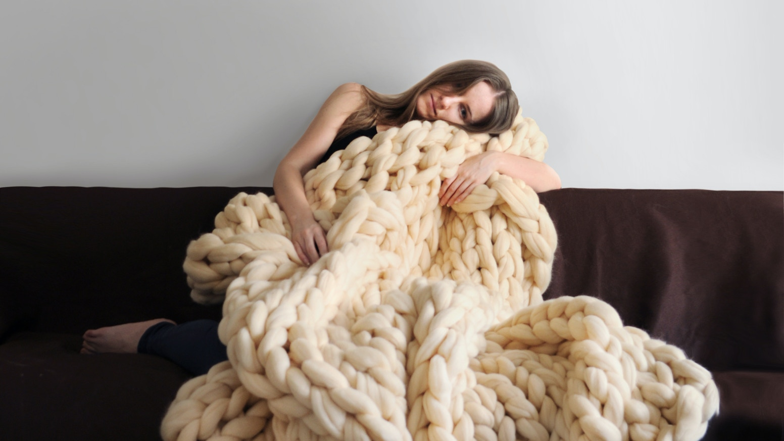 Super soft and smooth 100% merino wool blankets by Ohhio. They will warm you up on chilly evenings, and will be pleasant reminder of sunnier spring days.