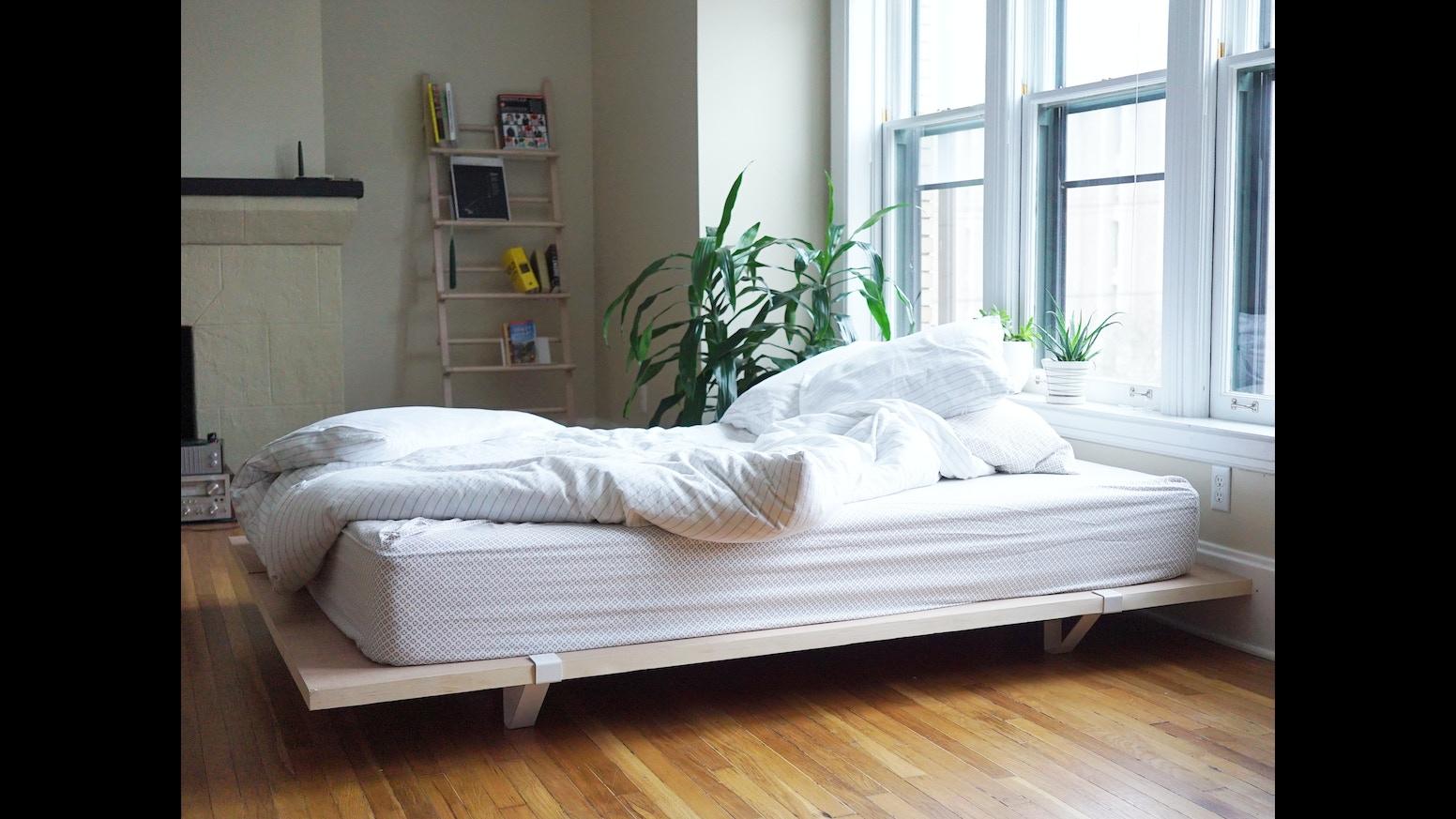 The floyd platform bed by kyle hoff alex o 39 dell kickstarter - Minimal platform bed ...