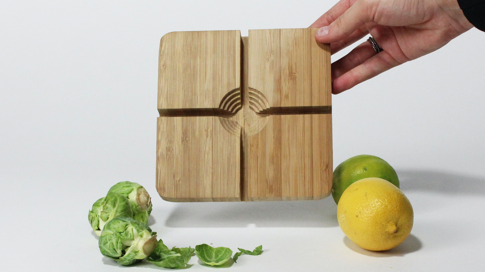 B. Sprout 2000 is a one of a kind cutting board designed to allow users to safely cut brussels sprouts and other small vegetables.