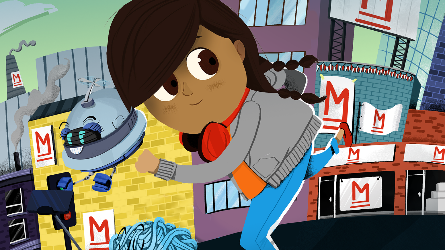 Adventure stories for kids starring Detective Dot, an 8 year old coder who uses tech to solve global problems.