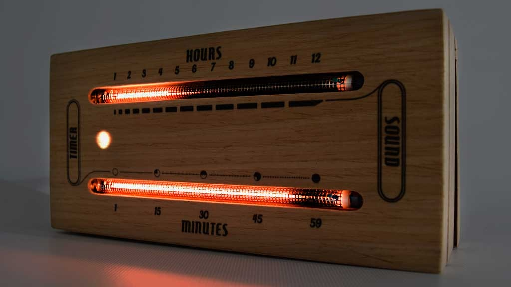 The Luminous Electronic Bargraph Clock project video thumbnail