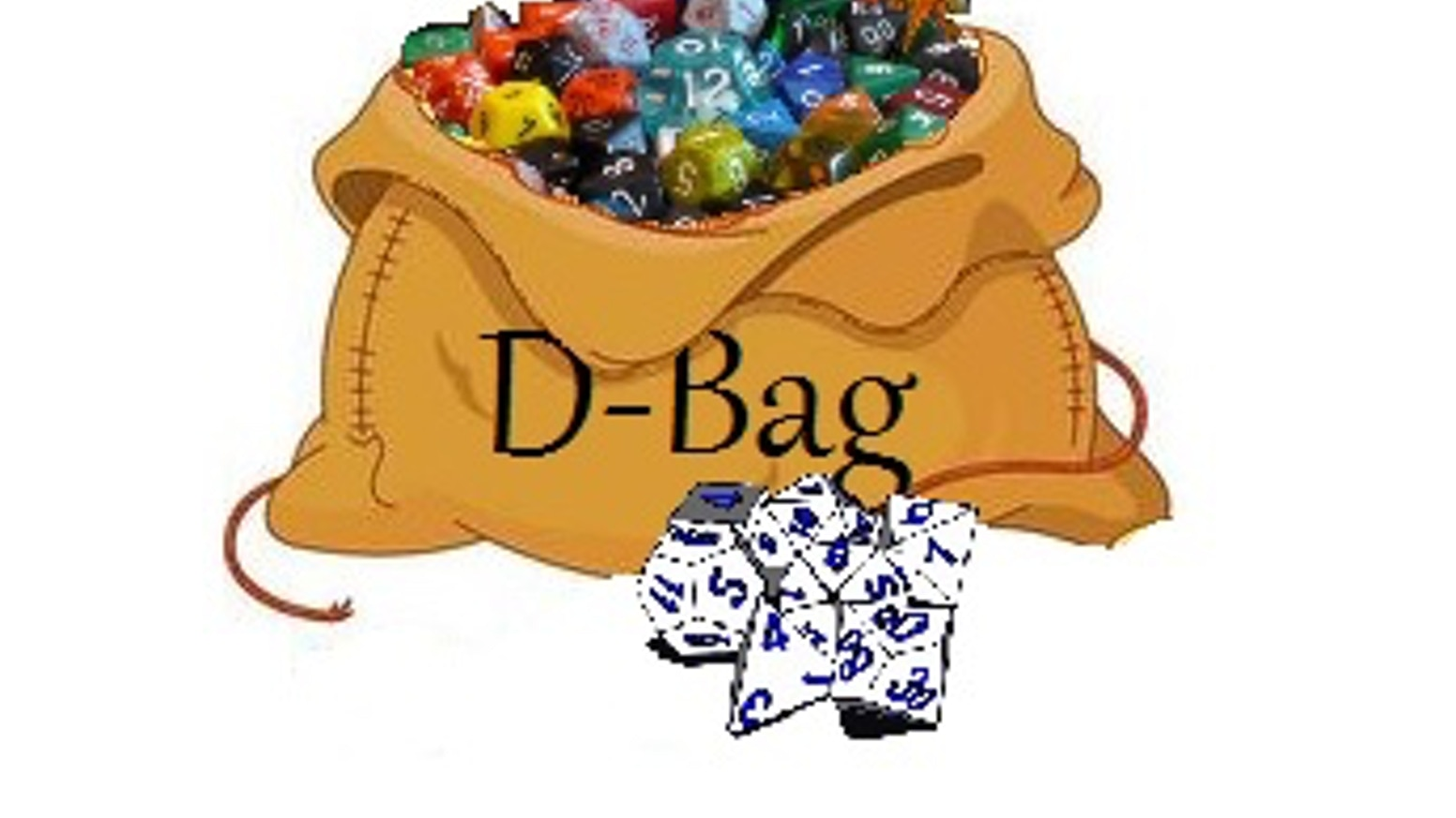 A new kind of dice bag, with 6 individual compartments for d-4's, d-6's, d-8's, d-10's, d-12's, and d-20's... it's the d-bag!