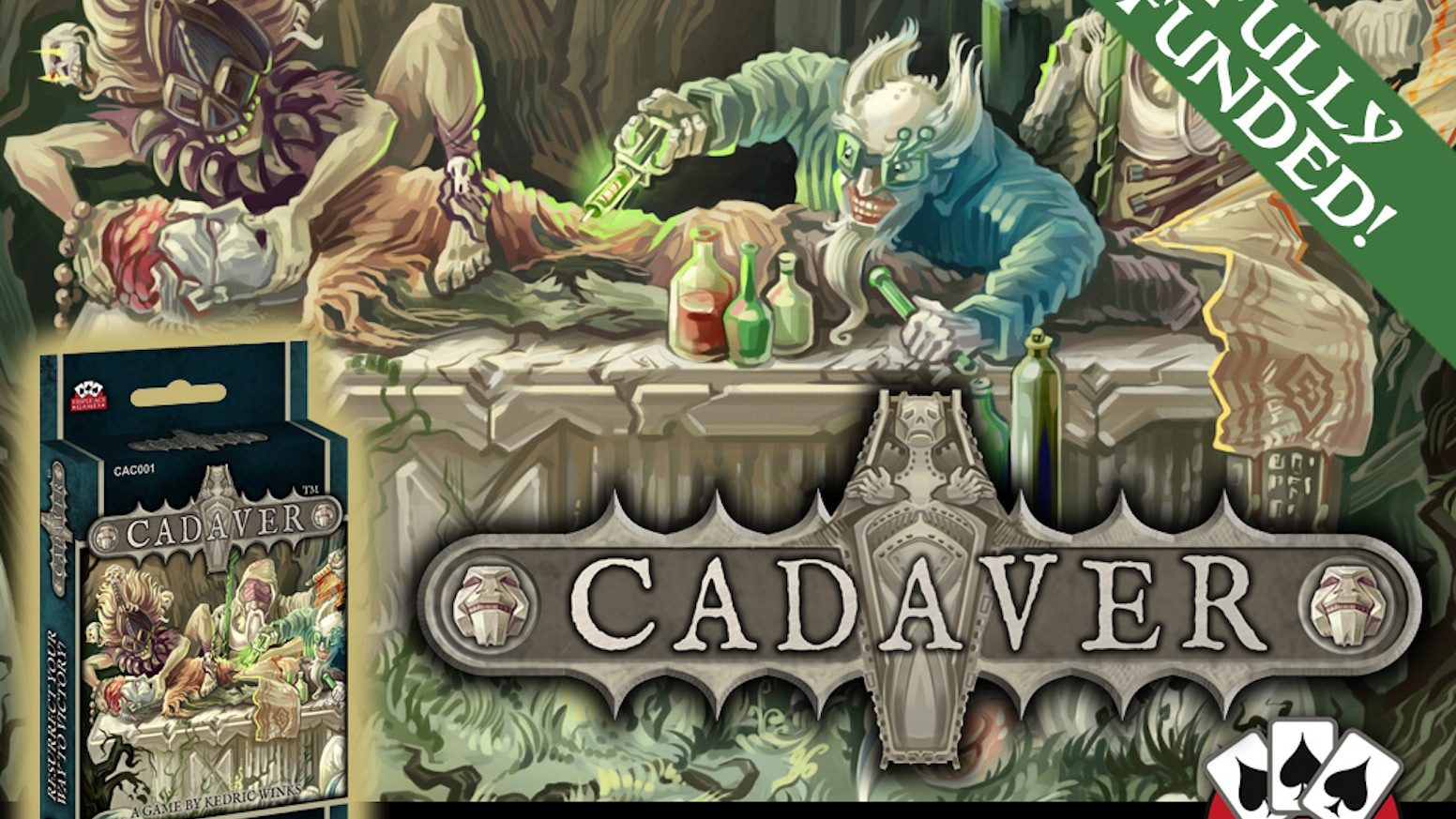 Cadaver is a lighthearted game of friendly necromancy! Players compete to resurrect as many bodies as possible!