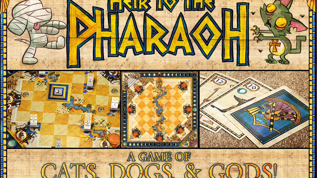 Heir to the Pharaoh: A 2-Player Game of Cats, Dogs & Gods! project video thumbnail