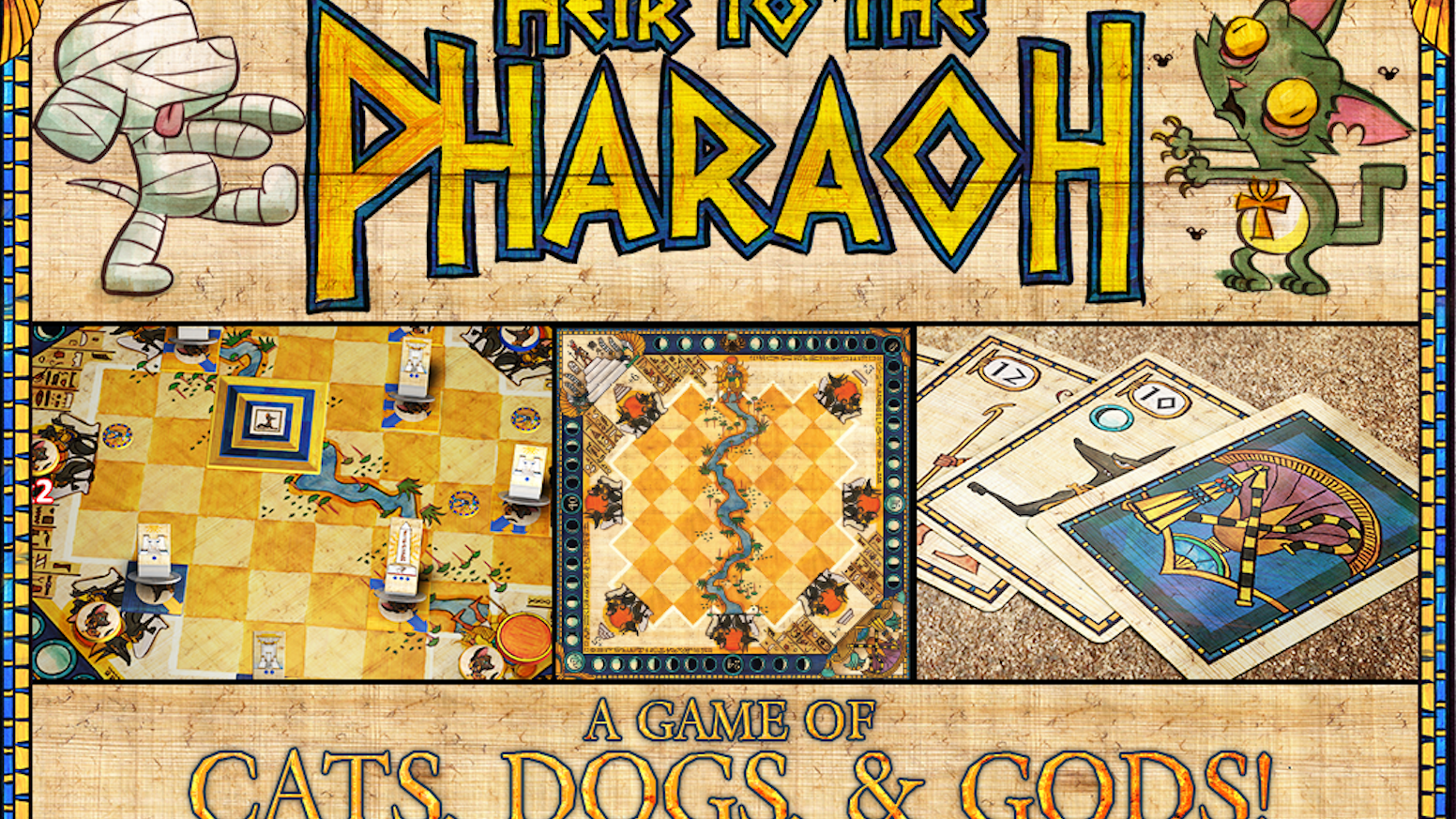 Alf Seegert is a master designer of 2-player games, including The Road to Canterbury, Fantastiqa, Musée and now Heir to the Pharaoh.