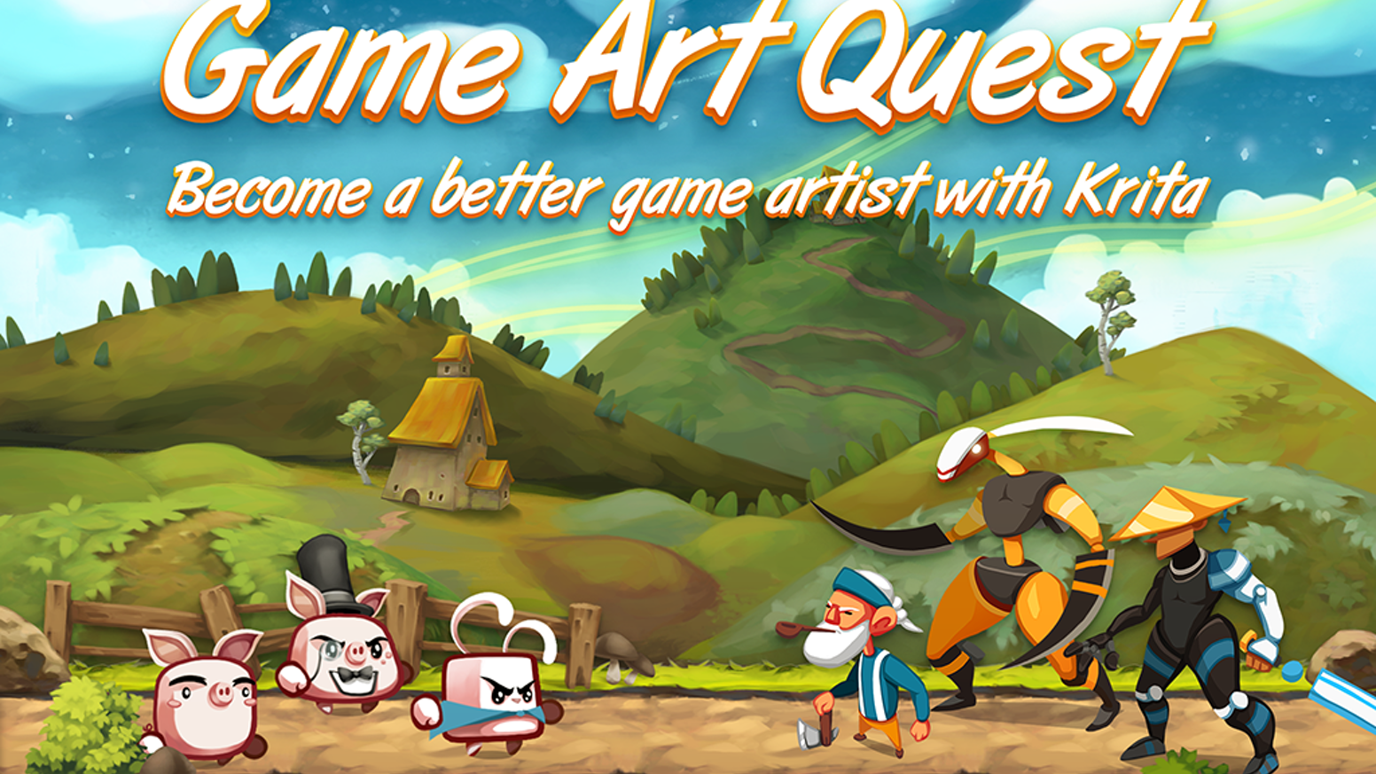 Create Professional 2d Game Art Krita Video Training By