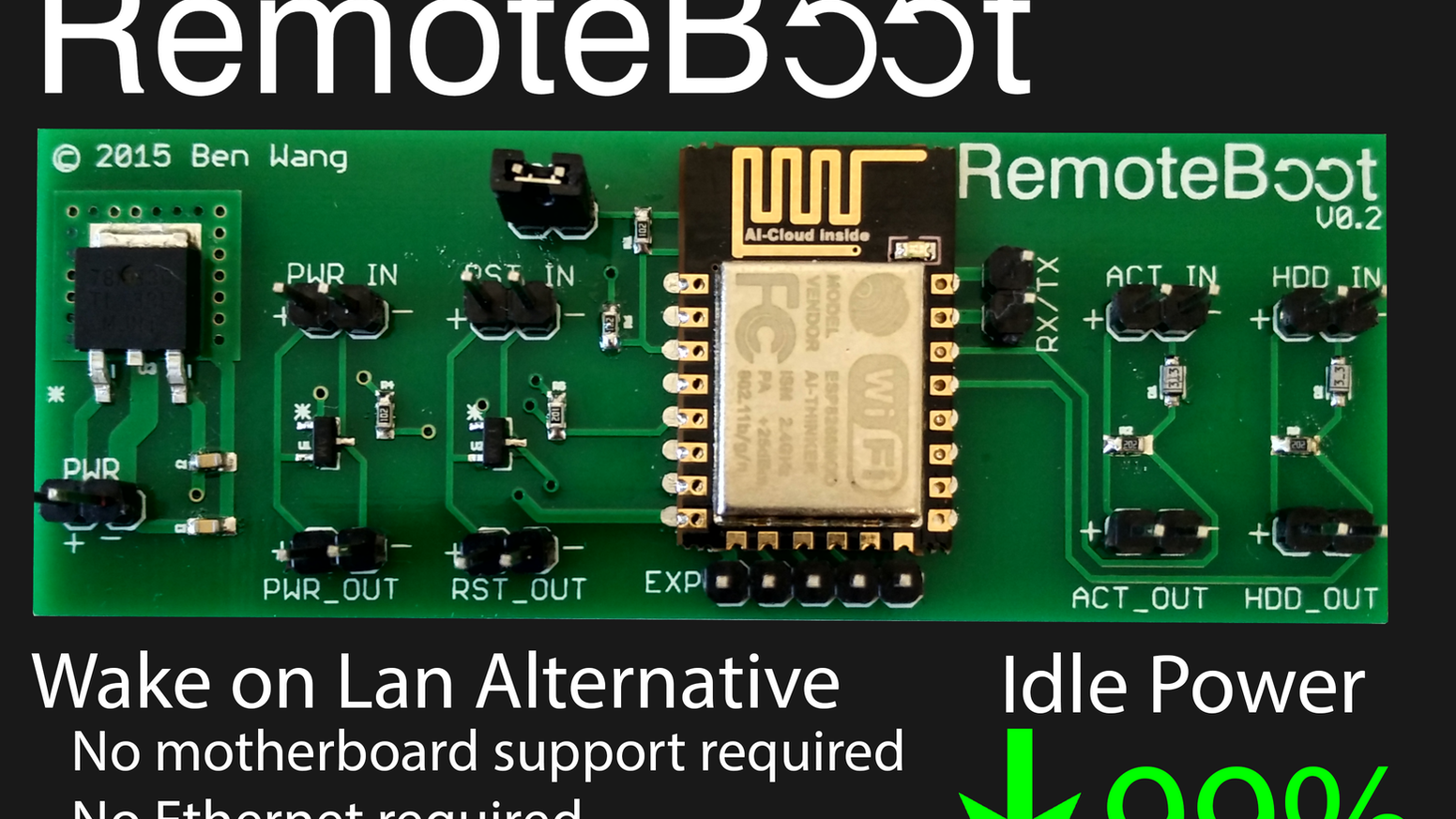 RemoteBoot - WiFi Remote Management Module for PCs by Ben