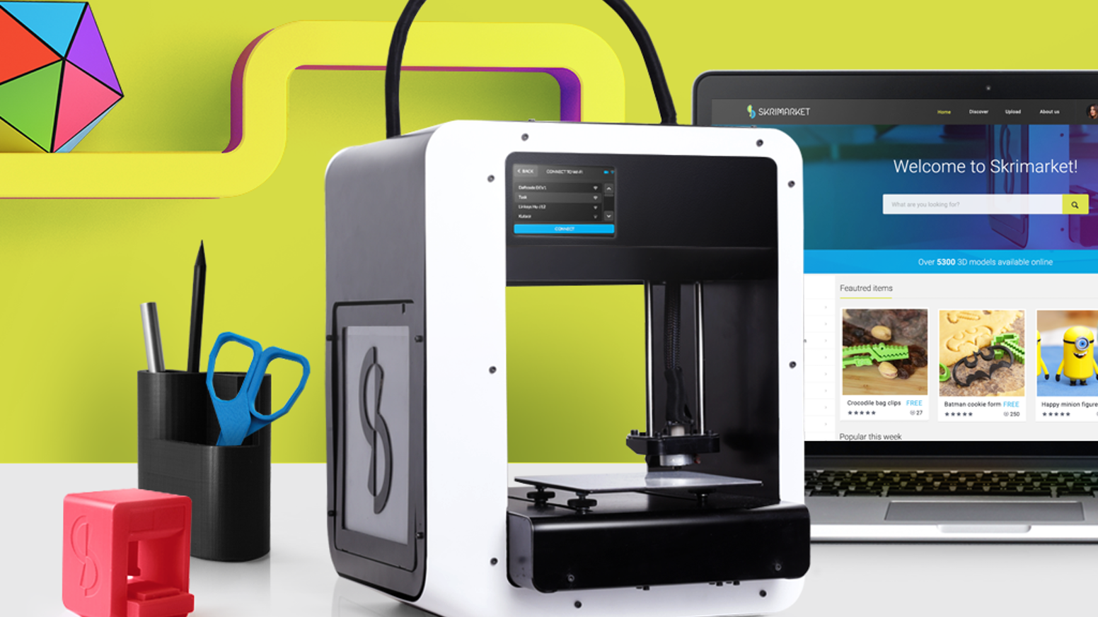 We turn 3D printing into an everyday activity. Our printers enable printing straight from the online marketplace with just one click!