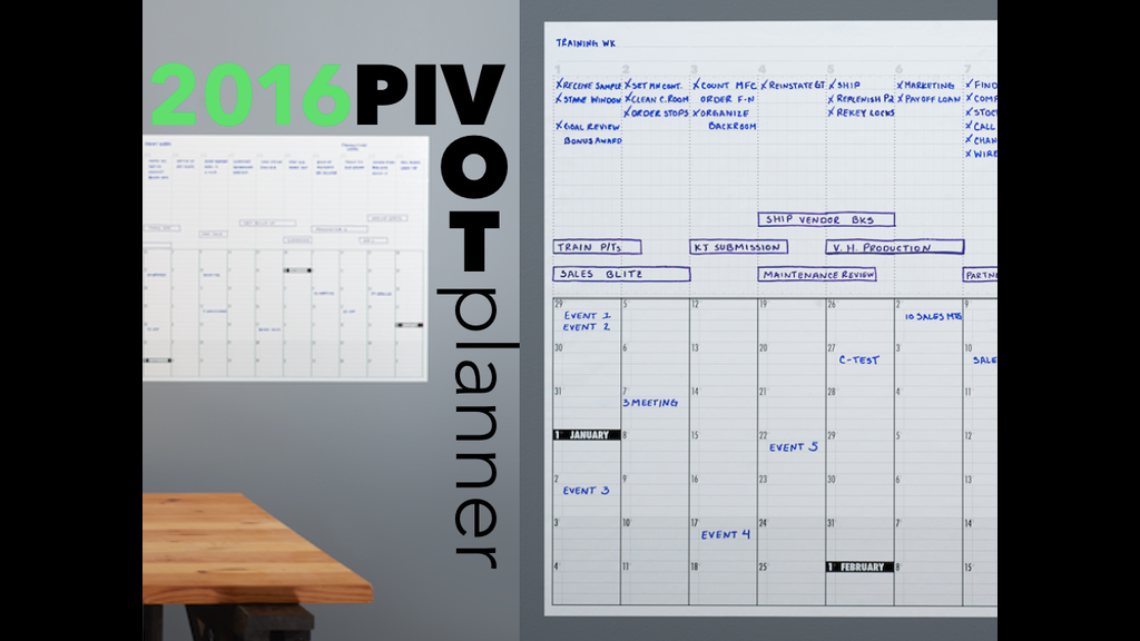 Kickstarter Calendar Planner : Pivot planner free pdfs bueller by