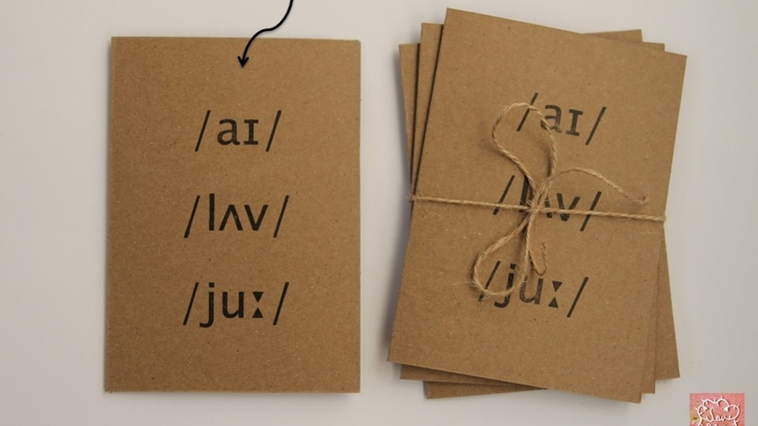 Hand Stamped Phonetics Greeting Cards By Sew Bloom By Hannah Bloom