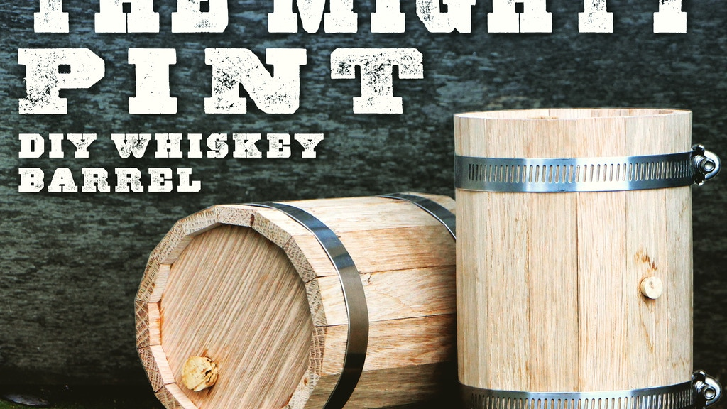DIY Mini Whiskey Barrel project video thumbnail