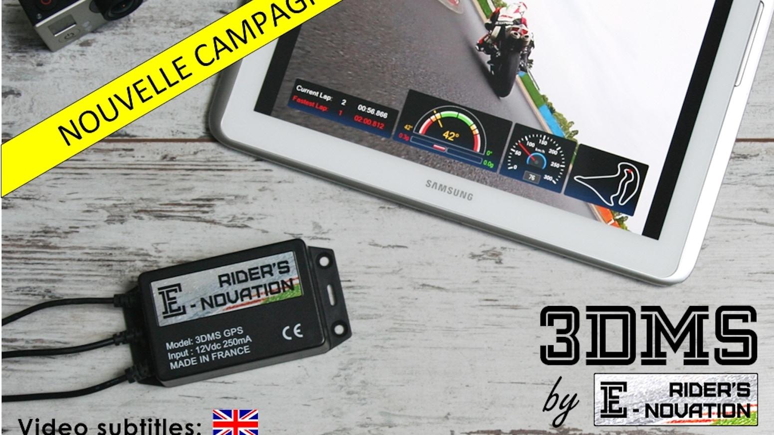 Embarquez un 3DMS sur votre 2-roues, enregistrez, améliorez vos perf' (angle, accélération, chrono, GPS) et partagez-les en vidéo !