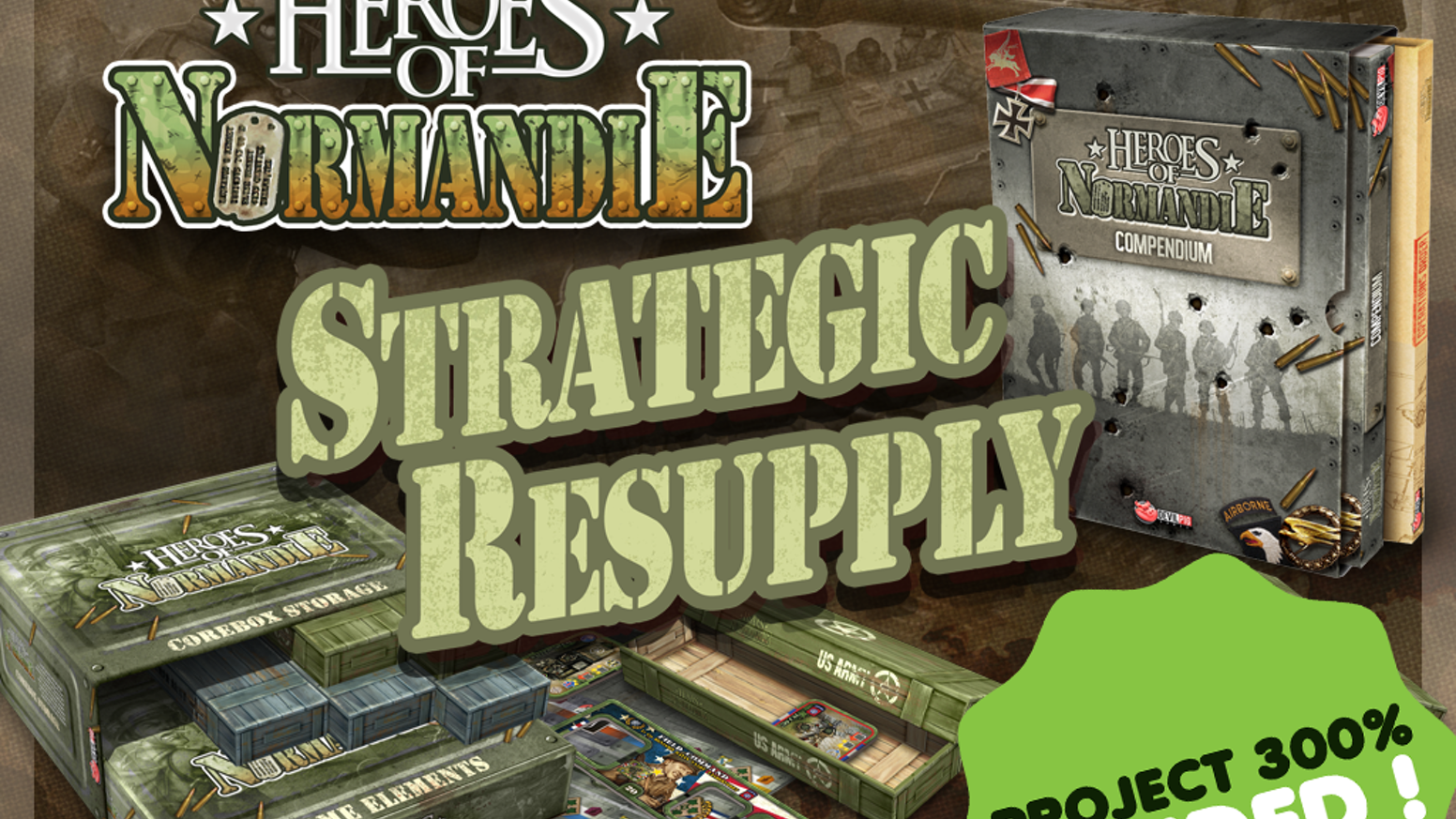 After two years of war, we proudly present you the HoN Resupply KS campaign. Complete Compendium, storage solution, surprise and more!
