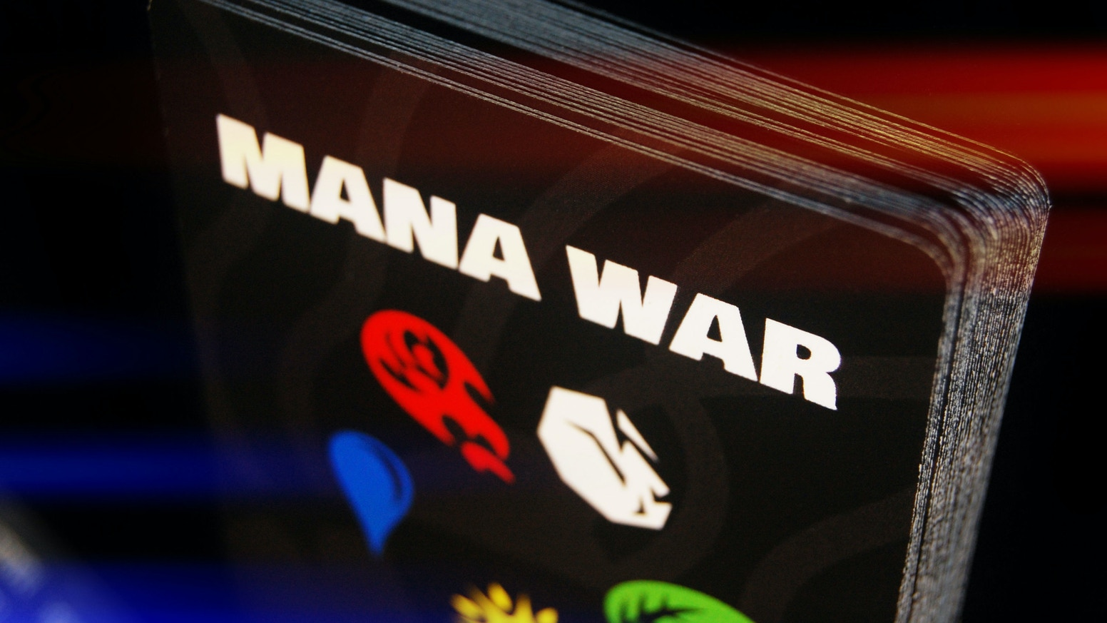 The most versatile deck of cards since the poker deck! Mana War is a simple 5-suit deck of cards with 4 included games for 1-10 players