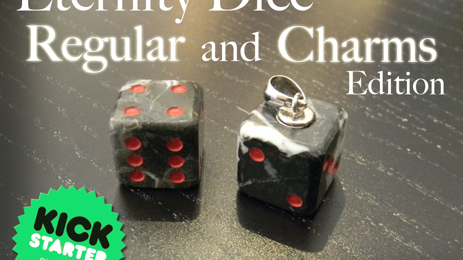Dice forged from stone one by one entirely by hand for demanding Gamers and Collectors.