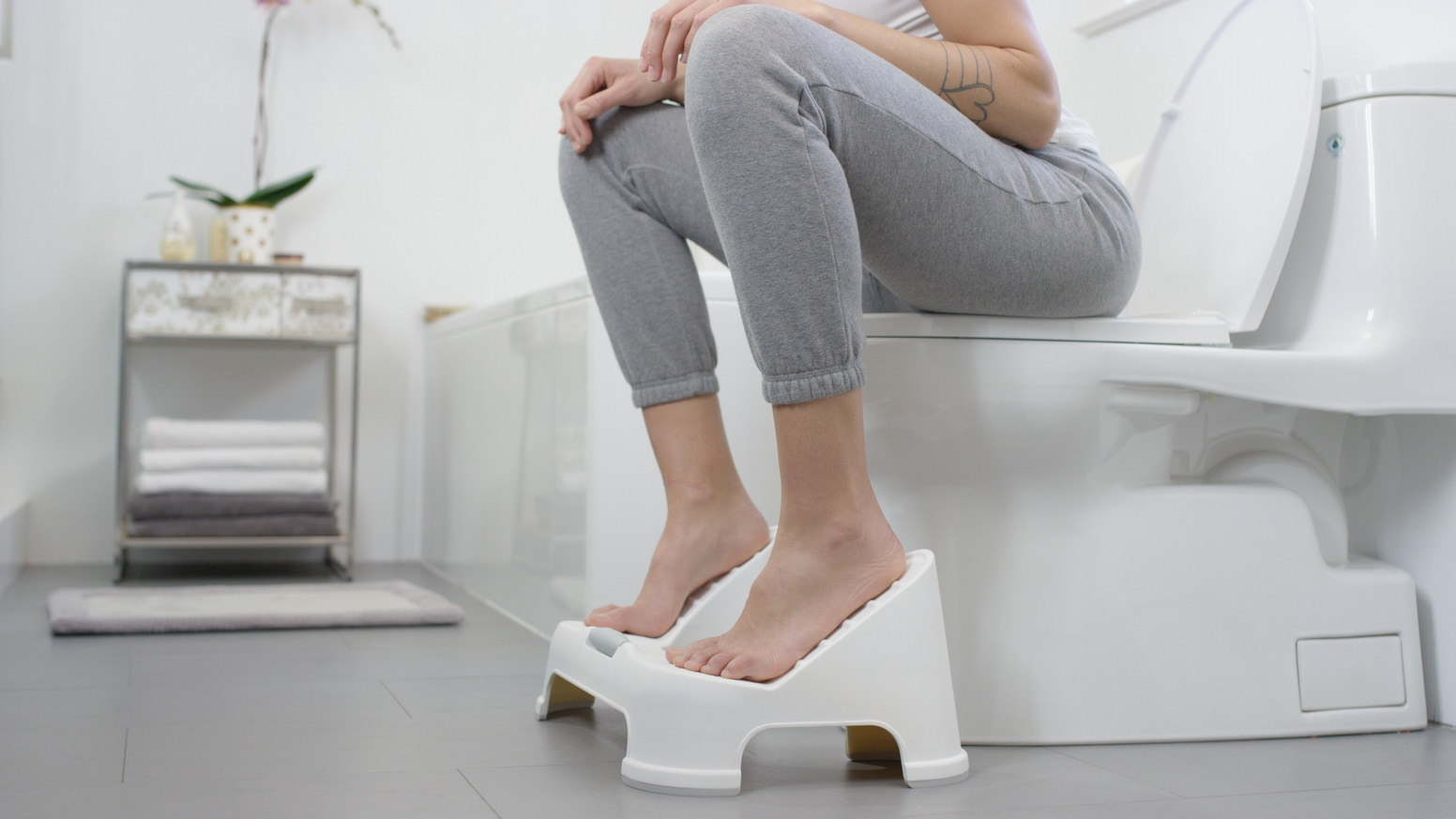 A toilet footstool for squatting and massage, leading to better health. Best value for LASTING WELLNESS!