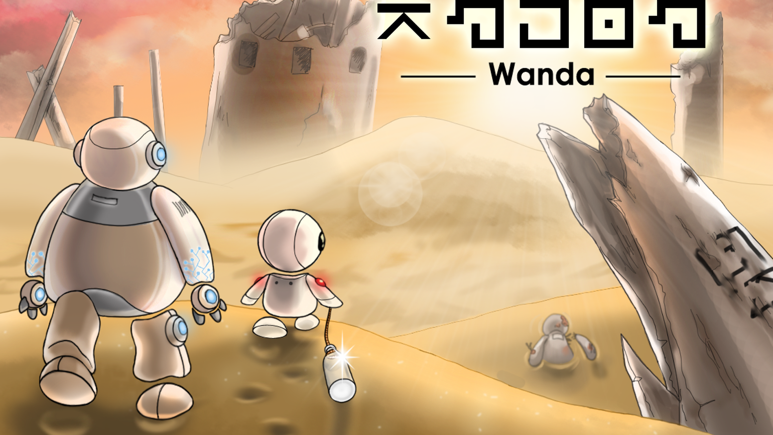 Wanda is a story-focused puzzle game for PC about two lonely robots finding hope and friendship on a ruined planet.