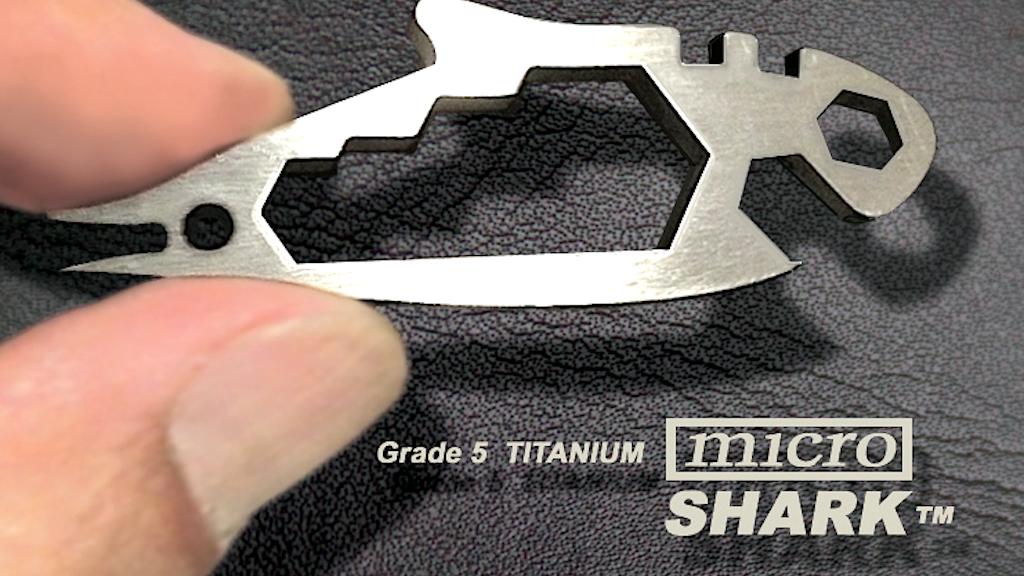 microSHARK The Smallest TITANIUM 22+ Function EDC Multi-Tool project video thumbnail