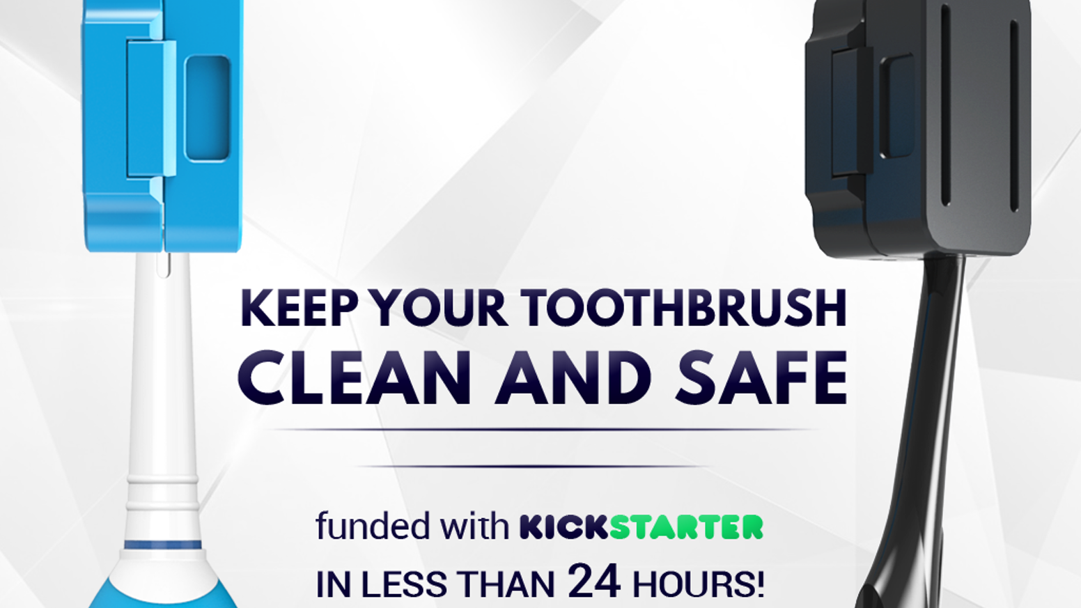 Silver-ionic technology ANTI-MICROBIAL toothbrush case. Protects toothbrush  against germs, poop and any other external threat.