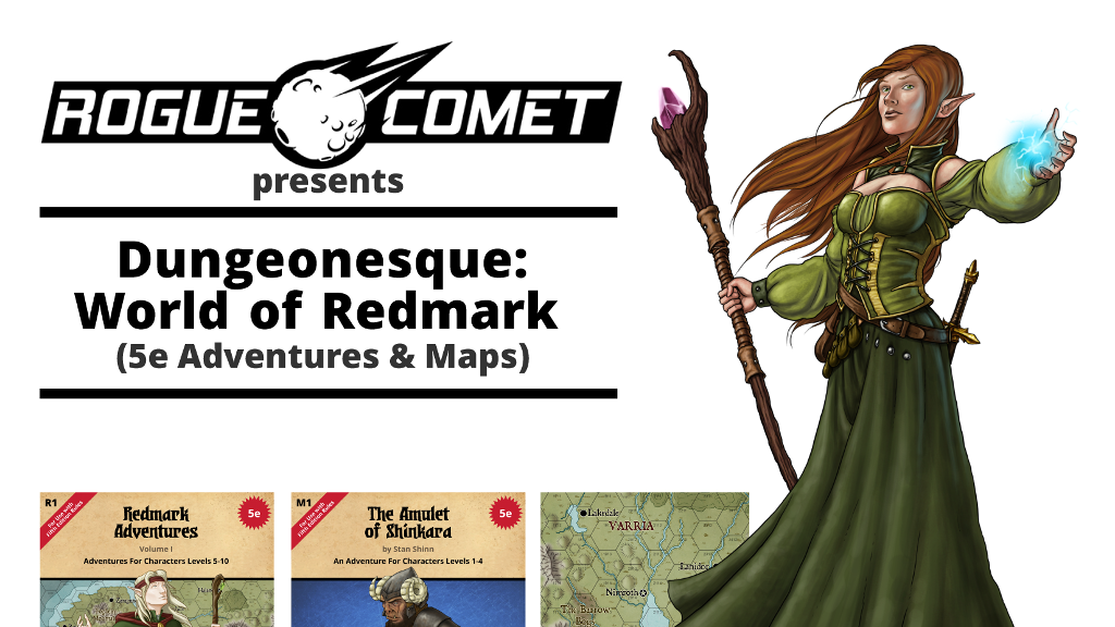 Dungeonesque: World of Redmark (5e Adventures & Maps) project video thumbnail