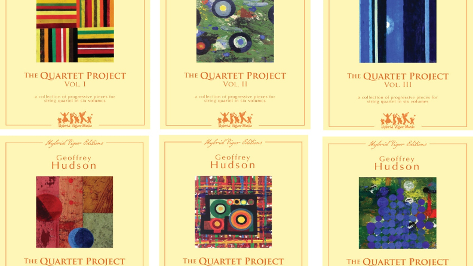 The Quartet Project is a six-volume collection of soon-to-be-published music for string quartets of all ages, by composer Geoff Hudson.