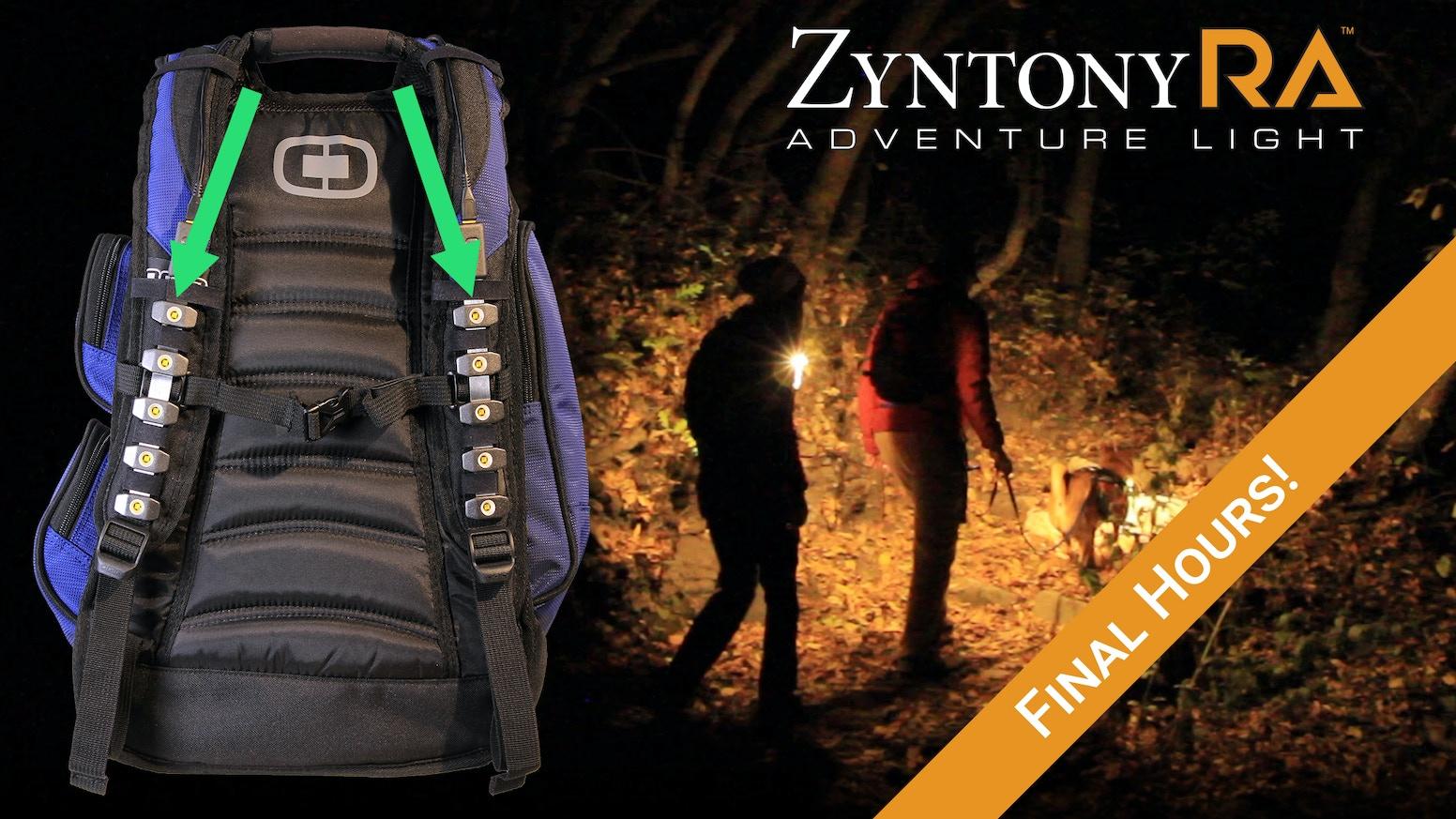 Ra Worlds First Strap Light By Zyntony Kickstarter Torch Messenger Bag Odate Abu
