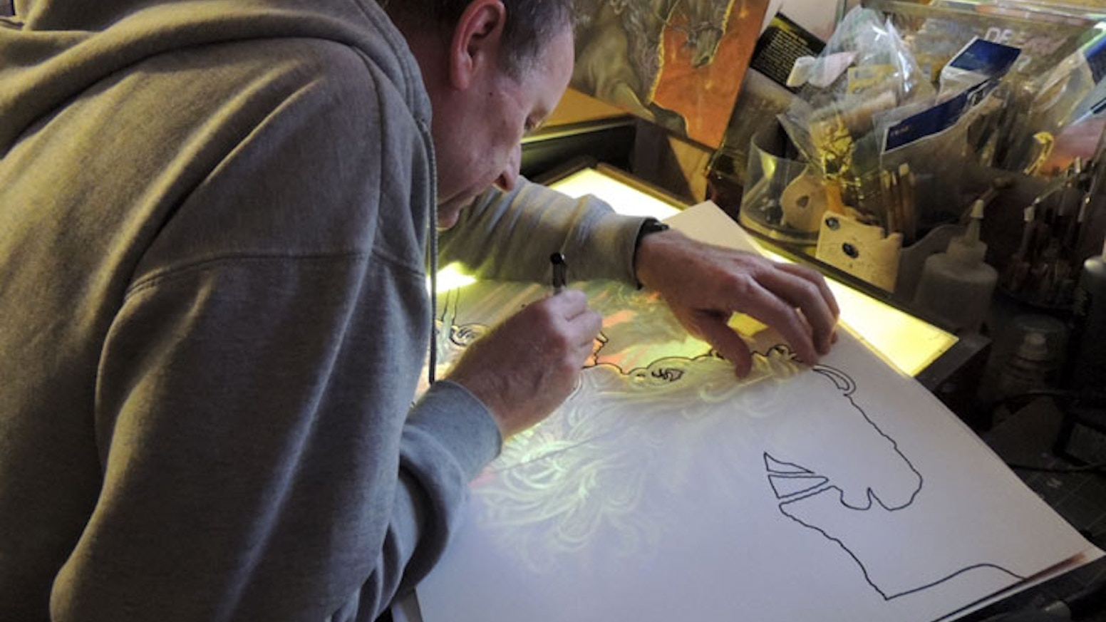 We are creating a beautiful new coloring book of fantasy images in the art nouveau style.