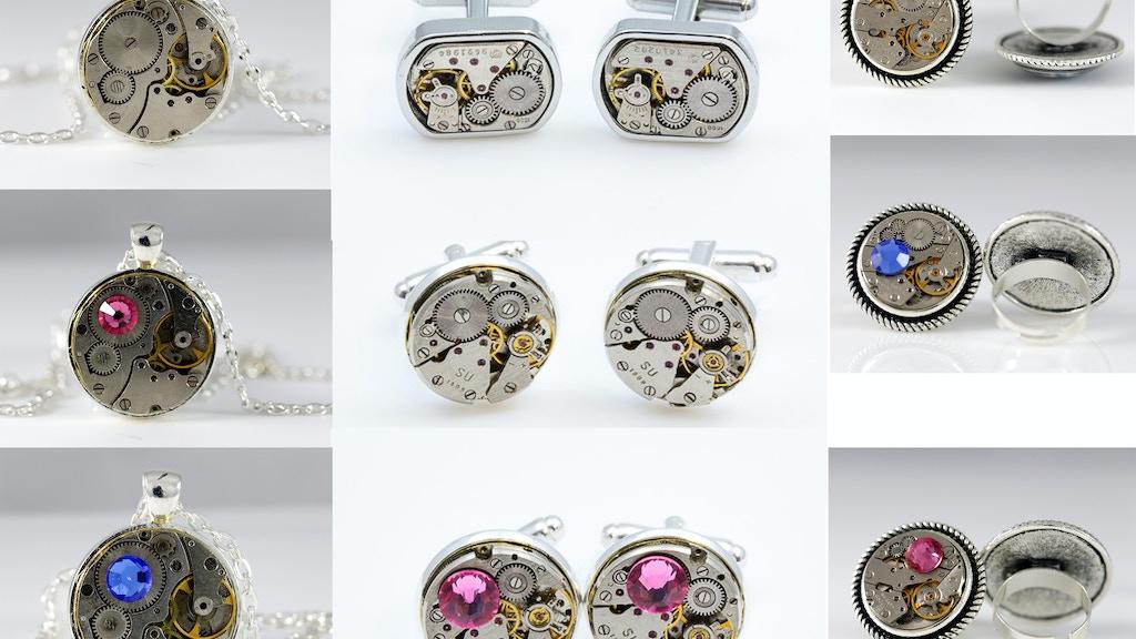 Watch movement Steampunk Jewelry project video thumbnail