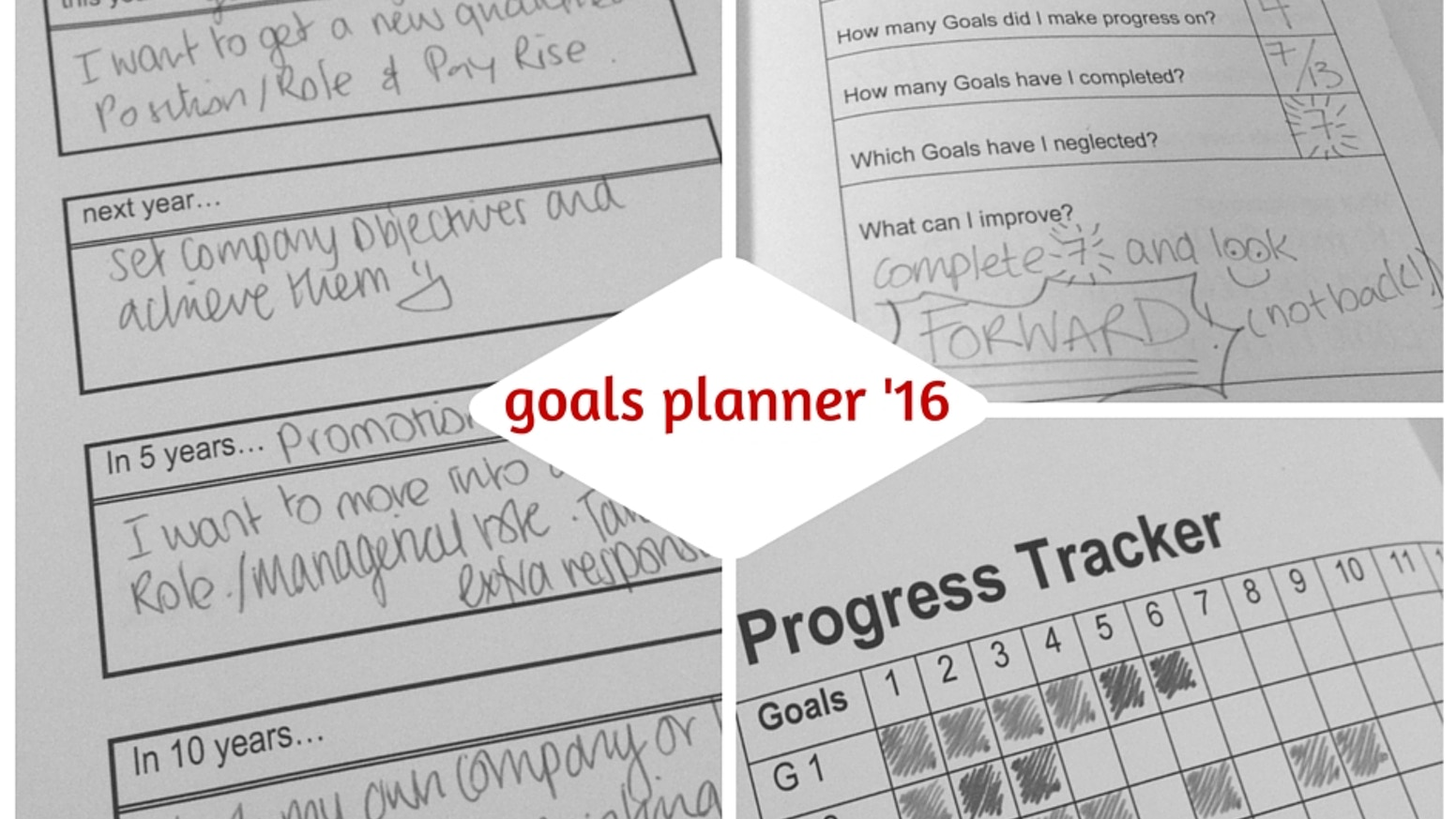 A pocket sized notebook to help you plan and achieve goals for 2016 and help you keep on track.