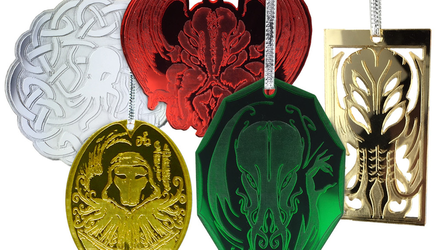 Horror Christmas Ornaments.Cthulhu Holiday Ornaments Lovecraft Horror On Your Tree By