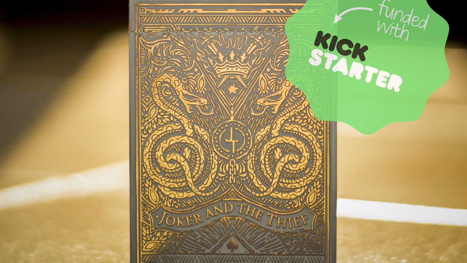 Joker And The Thief White Gold Edition Playing Cards By Joker And