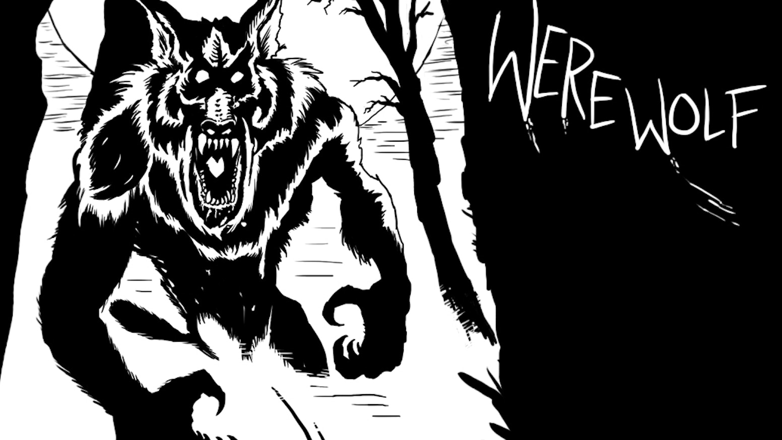 33 Individual dark and gritty Noir Style Cards for the party game Werewolf...(Game instructions & Rules included)